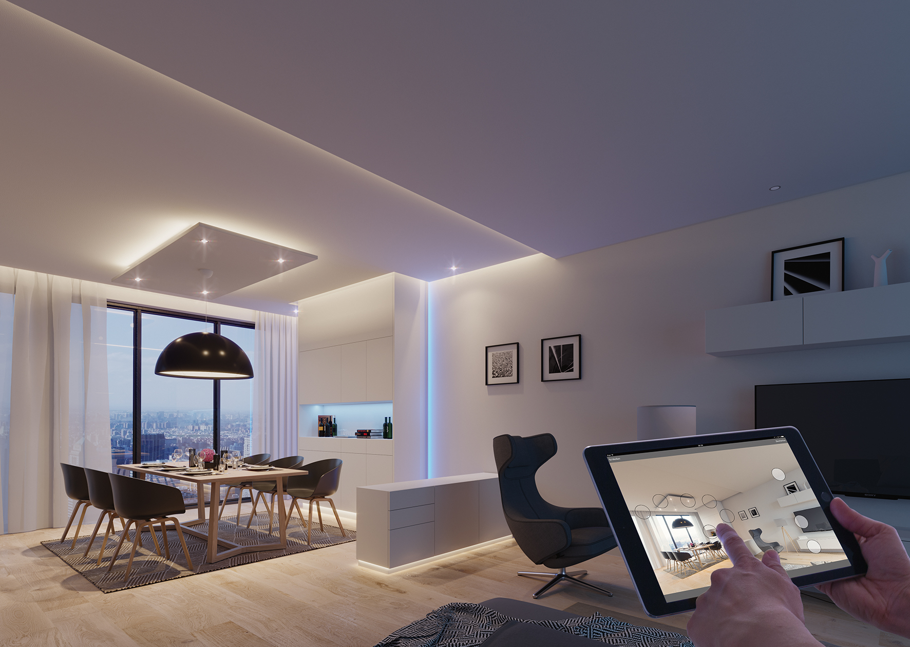 With an update of many products and the Häfele Connect App, the Loox LED lighting system will become the entry point into the smart world of furniture and rooms.