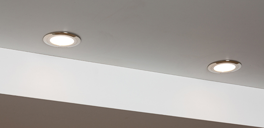 Spotlights illuminate niches in the best possible way.