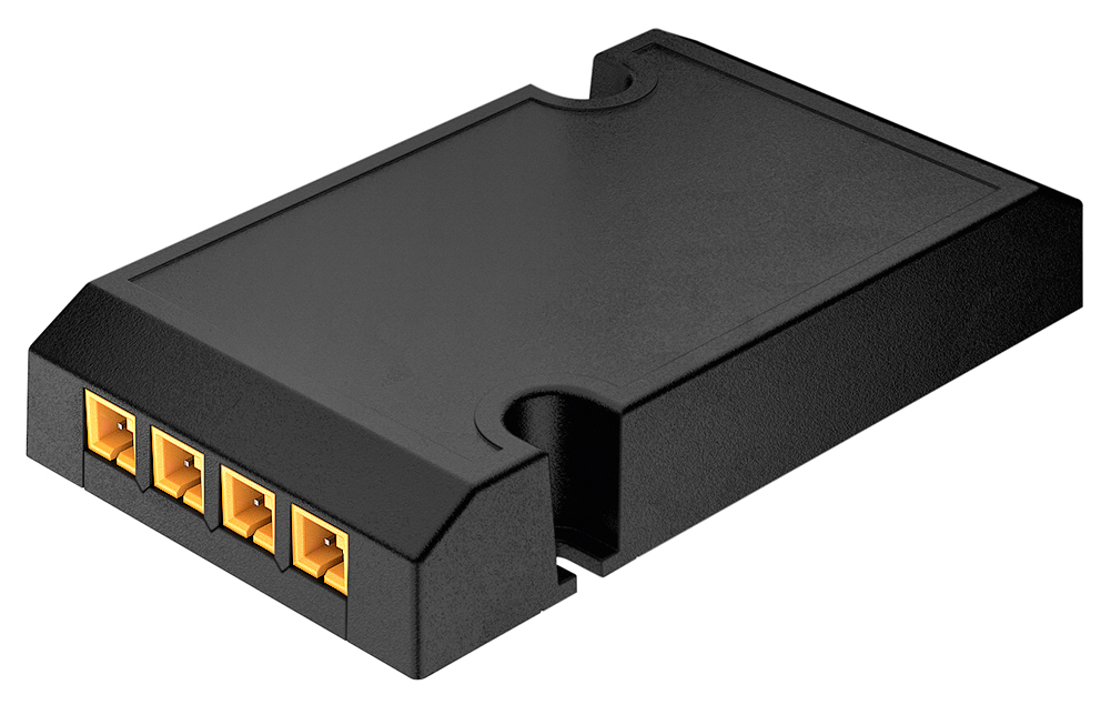 The Häfele Connect BLE boxes for 12 and 24 V drivers provide access to the smart world of many other applications via Loox.